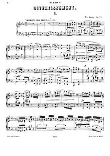 Дивертисмент для двух фортепиано, Op.78: Первая партия by Луи Теодор Гуви