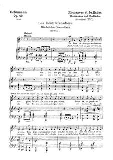 Романсы и баллады, Op.49: No.1 Два гренадера (Немецкий и французский тексты) by Роберт Шуман
