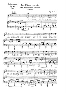 Романсы и баллады, Op.49: No.2 Братья-враги by Роберт Шуман