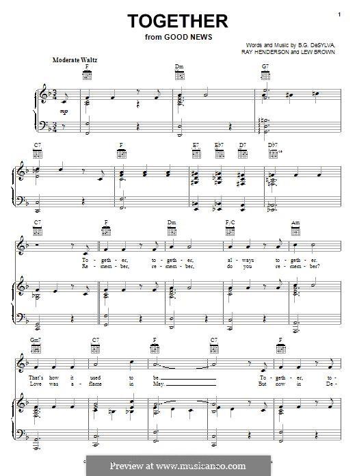 Together: Для голоса и фортепиано (или гитары) by Buddy Gard DeSylva, Ray Henderson, Lew Brown