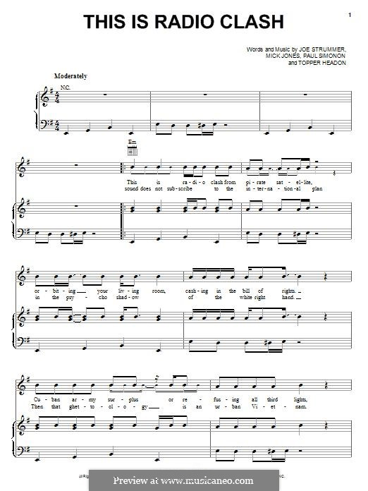 This Is Radio Clash (The Clash): Для голоса и фортепиано (или гитары) by Joe Strummer, Mick Jones, Paul Simonon, Topper Headon