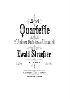 Струнный квартет No.1 ми минор, Op.12: Скрипка I by Ewald Strässer