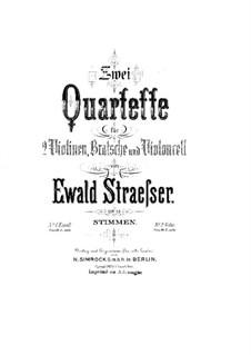 Струнный квартет No.1 ми минор, Op.12: Партия альта by Ewald Strässer