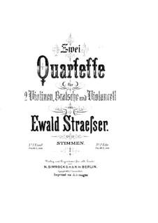 Струнный квартет No.1 ми минор, Op.12: Партия виолончели by Ewald Strässer