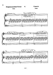 В Аржанто, Op.40: No.6 Непринужденная беседа by Цезарь Кюи