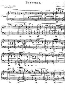 Двенадцать миниатюр, Op.20: No.8 Колыбельная by Цезарь Кюи