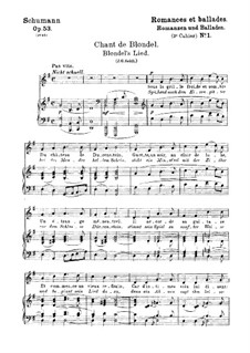 Романсы и баллады, Op.53: No.1 Песня Блонделя by Роберт Шуман