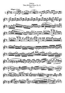Три блестящих дуэта для двух флейт, Op.81: Партия II флейты by Фридрих Кулау
