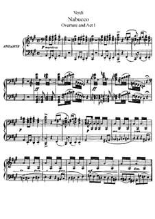Фрагменты: Увертюра и акт I, для солистов, хора и фортепиано by Джузеппе Верди