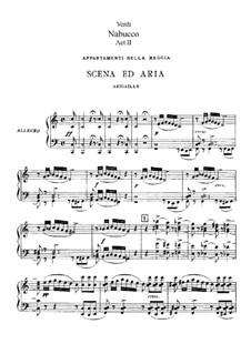 Фрагменты: Акт II, для солистов, хора и фортепиано by Джузеппе Верди