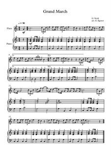 10 Easy Classical Pieces For Flute & Piano Vol.5: Grand March (Aida) by Вольфганг Амадей Моцарт, Франц Шуберт, Антонин Дворжак, Жорж Бизе, Георг Фридрих Гендель, Джузеппе Верди, Петр Чайковский, Эмиль Вальдтойфель, Адольф Адам, Себастьян Ирадьер