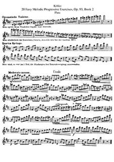 Двадцать лёгких уроков для флейты, Op.93: Книга II by Эрнест Кёлер