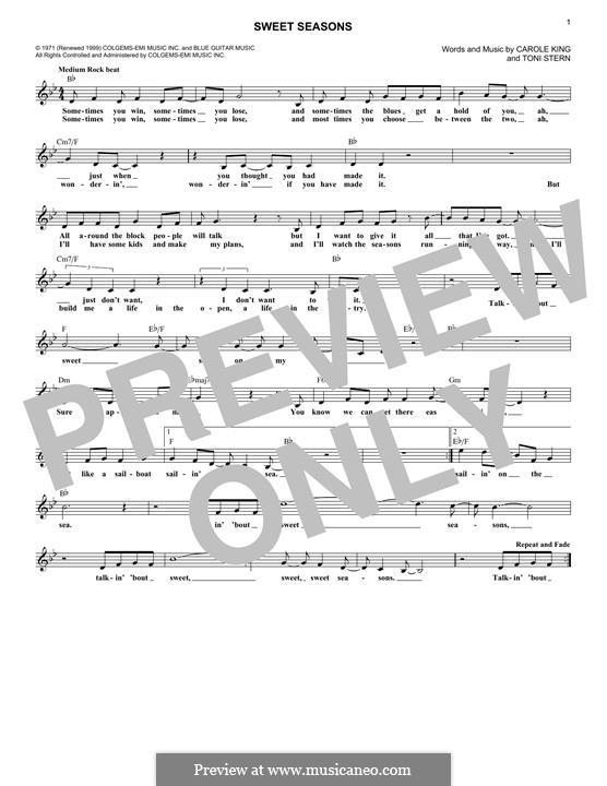 Sweet Seasons: Для клавишного инструмента by Carole King, Toni Stern