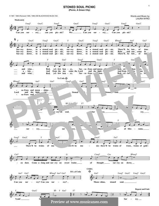 Stoned Soul Picnic (Picnic, a Green City): Для клавишного инструмента by Laura Nyro