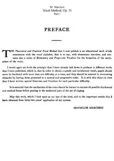 Методика пения, Op.31: Часть I by Матильда Маркези