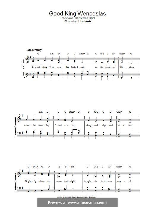 Good King Wenceslas: Для фортепиано by folklore
