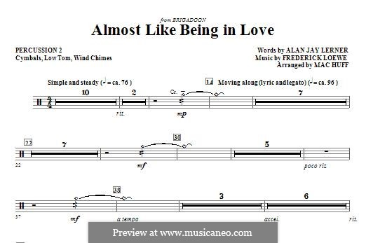 Almost Like Being in Love (Frank Sinatra): Percussion 2 part by Frederick Loewe