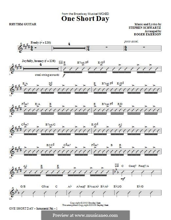 One Short Day (from Wicked): Rhythm part by Stephen Schwartz