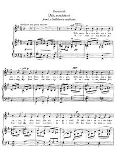 La Stellidaura vendicata. Deh, rendetemi: Для голоса и фортепиано by Francesco Provenzale