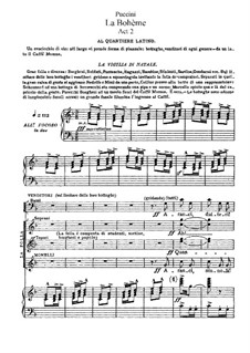 Вся опера: Акт II, для солистов, хора и фортепиано by Джакомо Пуччини