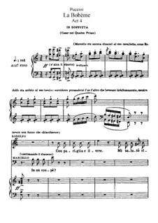 Вся опера: Акт IV, для солистов, хора и фортепиано by Джакомо Пуччини