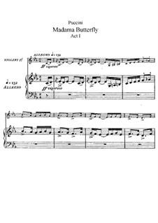Мадам Баттерфляй: Акт I, для солистов, хора и фортепиано by Джакомо Пуччини