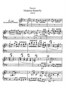 Мадам Баттерфляй: Акт II, для солистов, хора и фортепиано by Джакомо Пуччини