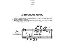 Тоска: Акт I, для солистов, хора и фортепиано by Джакомо Пуччини