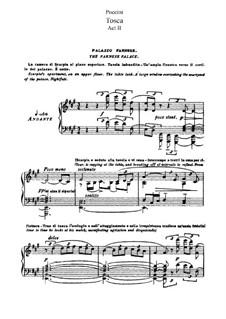 Тоска: Акт II, для солистов, хора и фортепиано by Джакомо Пуччини