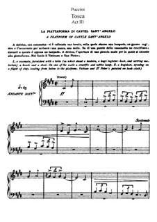 Тоска: Акт III, для солистов, хора и фортепиано by Джакомо Пуччини