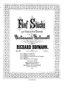 Пять пьес для скрипки и виолончели, Op.83: Партия виолончели by Ричард Хофман