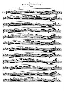 Семь ежедневных упражнений для флейты, Op.5: Семь ежедневных упражнений для флейты by Mathieu-André Reichert