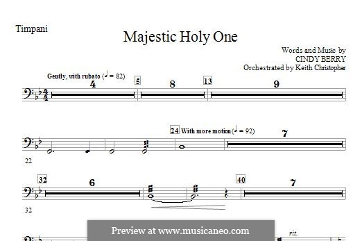 Majestic Holy One: Партия литавр by Cindy Berry