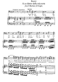 Севильский цирюльник: Aria Bartolo 'A un dottor della mia sorte' for voice and piano by Джоаккино Россини