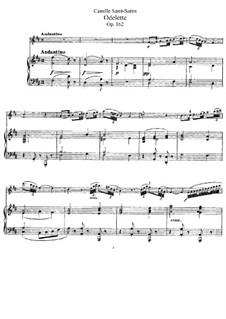 Оделетта, Op.162: Для флейты и фортепиано by Камиль Сен-Санс