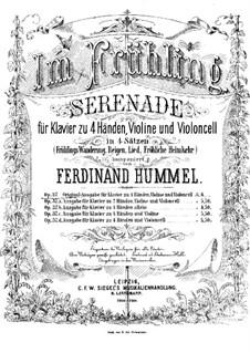 Весной. Серенада для фортепиано в четыре руки, скрипки и виолончели, Op.37: Партия фортепиано by Ferdinand Hummel