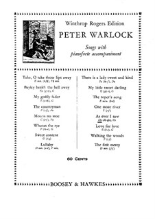 As Ever I Saw: Для голоса и фортепиано by Peter Warlock