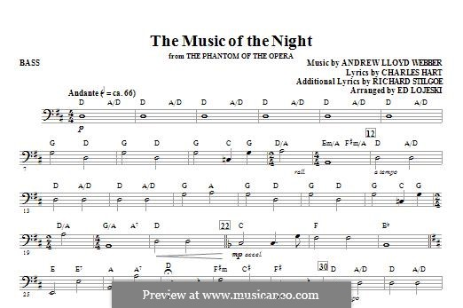 The Music of the Night: Партия баса by Andrew Lloyd Webber