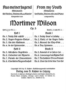 From My Youth. Miniatures for Violin, Cello and Piano, Op.5 No.5-8: Партитура by Mortimer Wilson