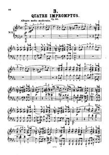 Четыре экспромта для фортепиано, D.899 Op.90: Экспромт No.1 (с аппликатурой) by Франц Шуберт
