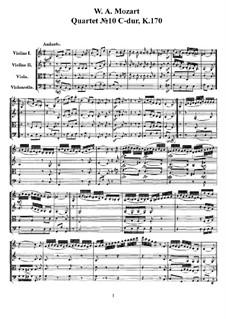 Струнный квартет No.10 до мажор, K.170: Партитура, Партии by Вольфганг Амадей Моцарт