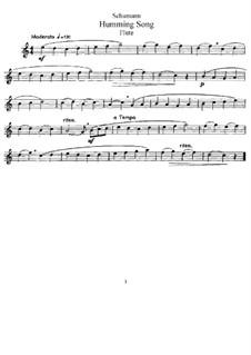 No.3 Песенка: Для флейты и фортепиано – Партия флейты by Роберт Шуман