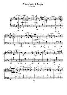 Мазурки, Op.63: No.1 си мажор by Фредерик Шопен
