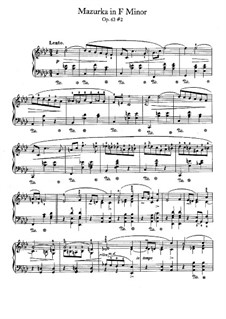 Мазурки, Op.63: No.2 фа минор by Фредерик Шопен