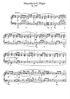 Мазурки, Op.50: No.1 соль мажор by Фредерик Шопен