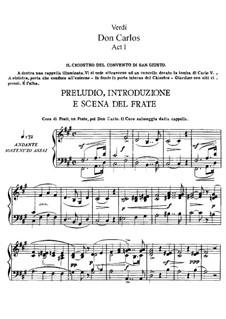 Дон Карлос: Акт I, для солистов, хора и фортепиано (Сокращённая версия) by Джузеппе Верди