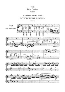 Дон Карлос: Акт III, для солистов, хора и фортепиано (Сокращённая версия) by Джузеппе Верди