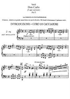 Дон Карлос: Акт I для солистов, хора и фортепиано by Джузеппе Верди