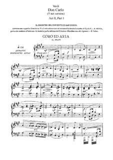 Дон Карлос: Акт II, для солистов, хора и фортепиано by Джузеппе Верди