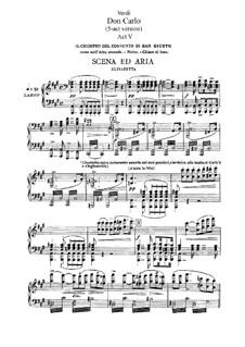 Дон Карлос: Акт V, для солистов, хора и фортепиано by Джузеппе Верди